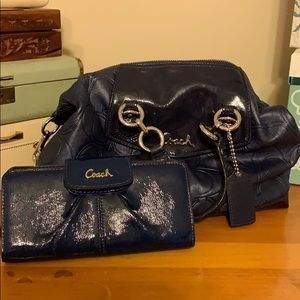 Navy Coach and wallet